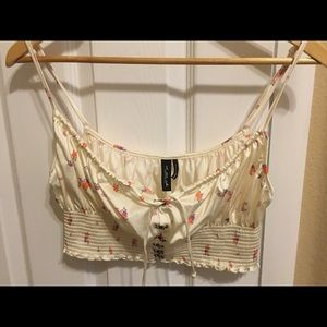 Bralette with front hooks